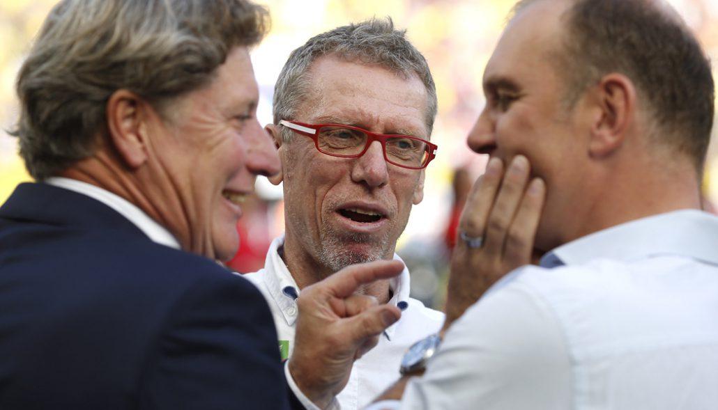 Toni Schumacher, Peter Stöger und Jörg Schmadkte.