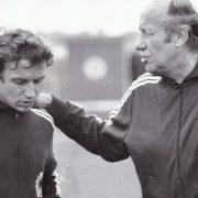 Flohe und Bundestrainer Helmut Schön, zwei, die sich gegenseitig nicht leiden konnten.