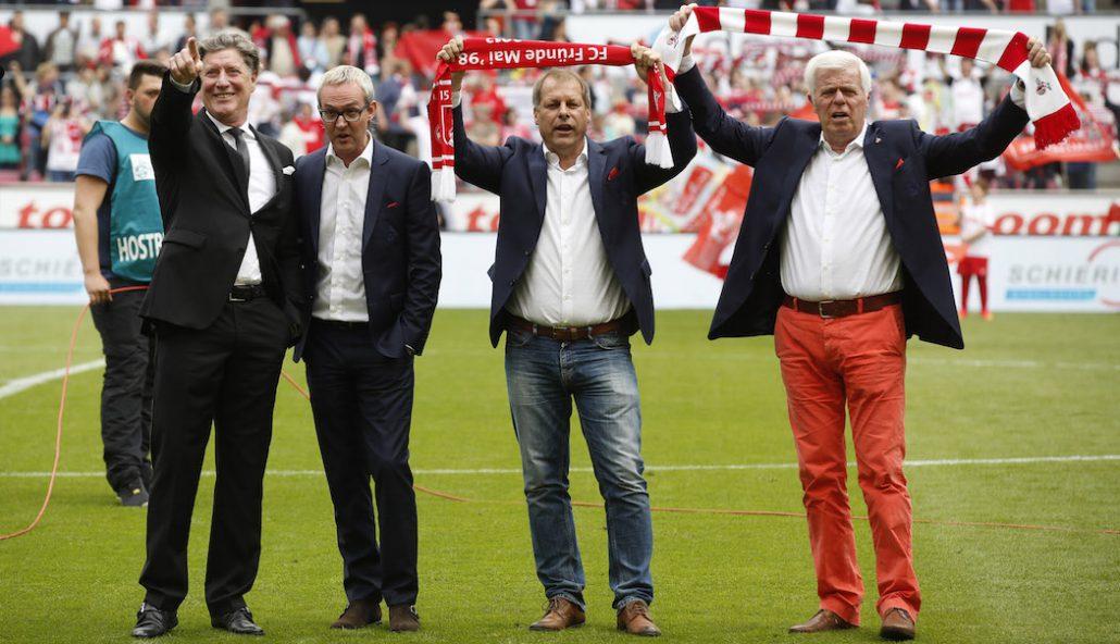 Toni Schumacher, Alex Wehrle, Markus Ritterbach und Werner Spinner.