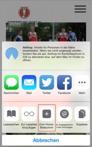 """""""Zum Home-Bildschirm"""" hinzufügen: der GEISSBLOG.KOELN als Web-App in 30 Sekunden."""