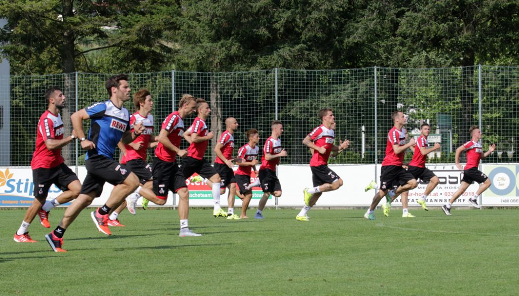 Der 1. FC Köln im Trainingslager.