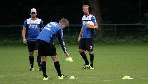 Patrick Helmes, Uwe Grauer und Martin Heck bei der Arbeit.