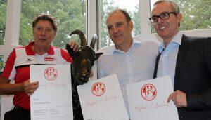 Toni Schumacher, Jörg Schmadtke und Alexander Wehrle.