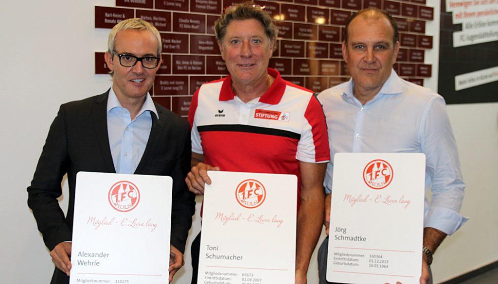 Alexander Wehrle, Toni Schumacher und Jörg Schmadtke.