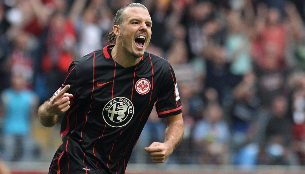 Alex Meier trifft drei Mal gegen den 1. FC Köln.