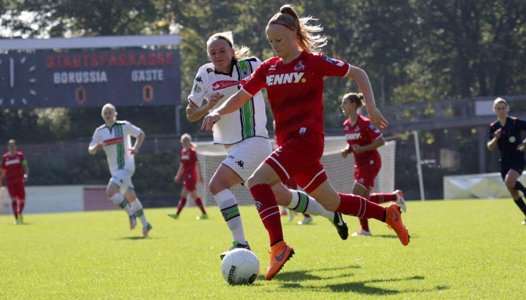 Anna Gerhardt: Die Frauen des 1. FC Köln gewinnen gegen Borussia Mönchengladbach mit 4:1.