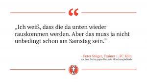 Peter Stöger über das Derby.