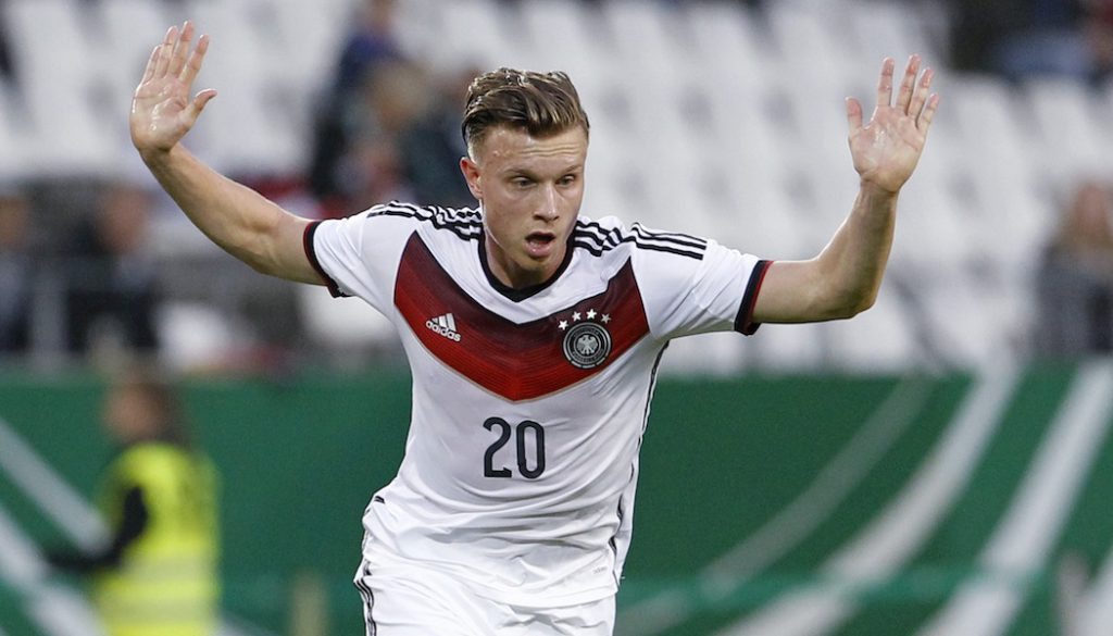 Yannick Gerhardt im Dress der U21-Nationalmannschaft.