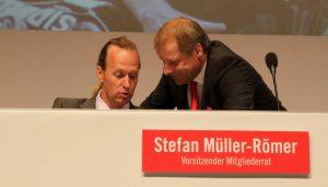 Stefan Müller-Römer und Markus Ritterbach im Gespräch.