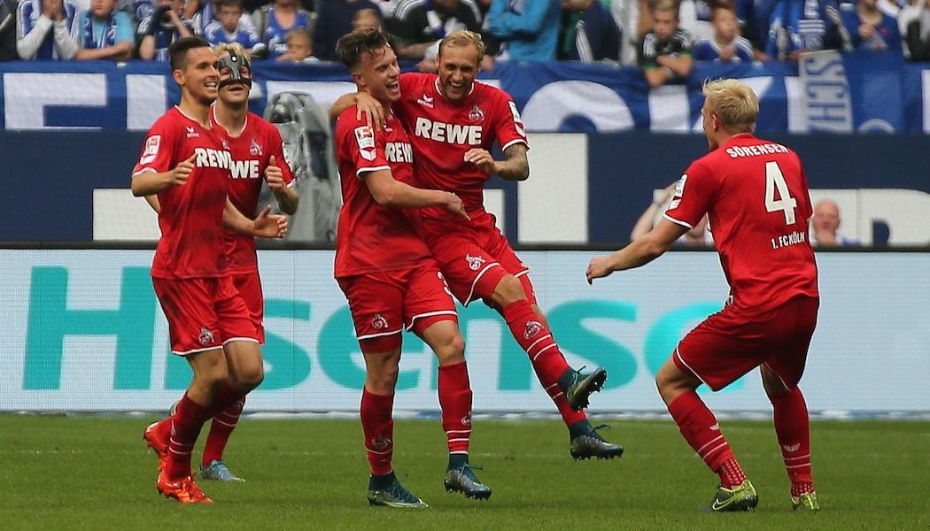 Jubel über das 3:0 gegen den FC Schalke 04: Der Effzeh feiert den Erfolg in Gelsenkirchen. (Foto: GK)