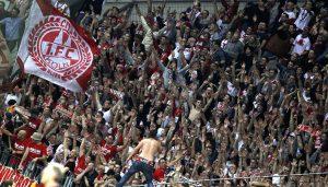 Der 1. FC Köln gewinnt das Derby bei Bayer Leverkusen mit 2:1. (Foto: MV)