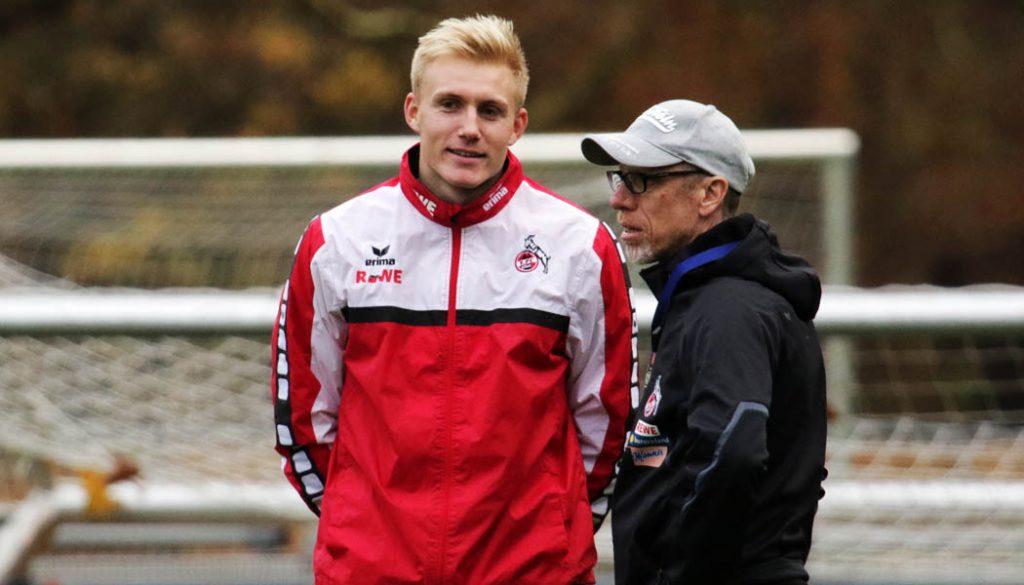 Frederik Sörensen und Peter Stöger im Gespräch.