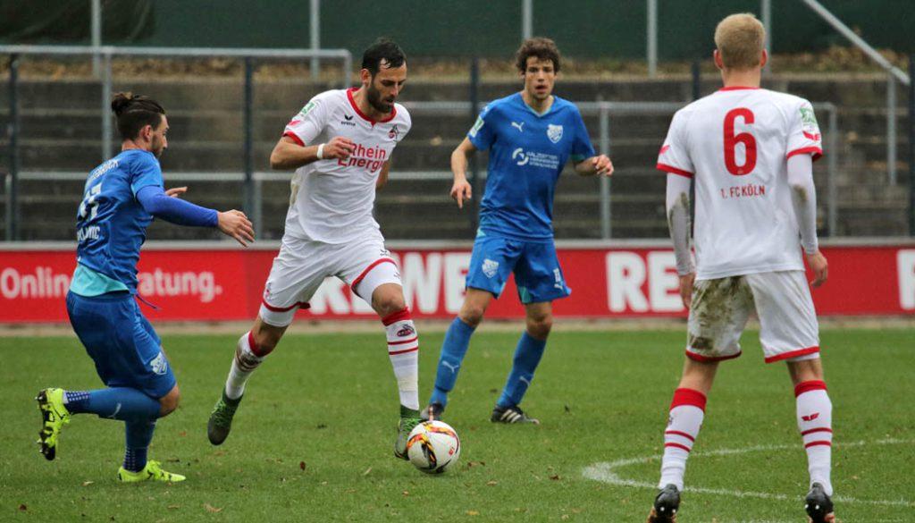Die U21 des 1. FC Köln gewinnt mit 2:1 gegen TuS Erndtebrück. Mergim Mavraj gibt dabei sein Pfichtspiel-Comeback.