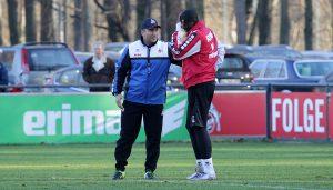 Anthony Modeste trainierte am Montag mit Manfred Schmid nach dem Training separat. (Foto: GBK)