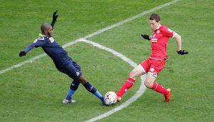 Anthony Modeste im Test gegen Mainz 05. (Foto: GBK)