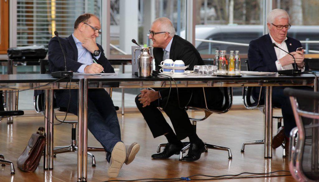 Jörg Schmadtke, Christoph Schickhardt und Werner Spinner. (Foto: GBK)