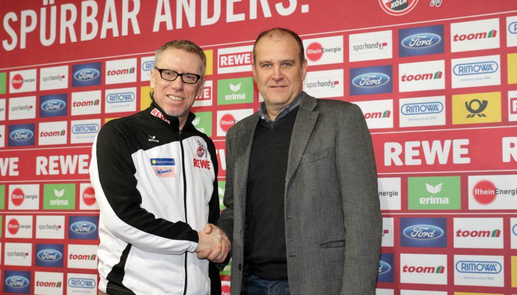 Peter Stöger bleibt bis 2020 FC-Trainer. (Foto: GBK)