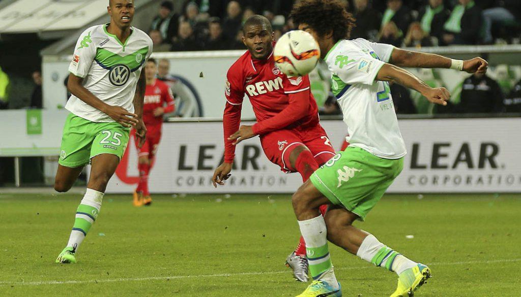 Anthony Modeste trifft zum 1:1 beim VfL Wolfsburg. (Foto: GK)