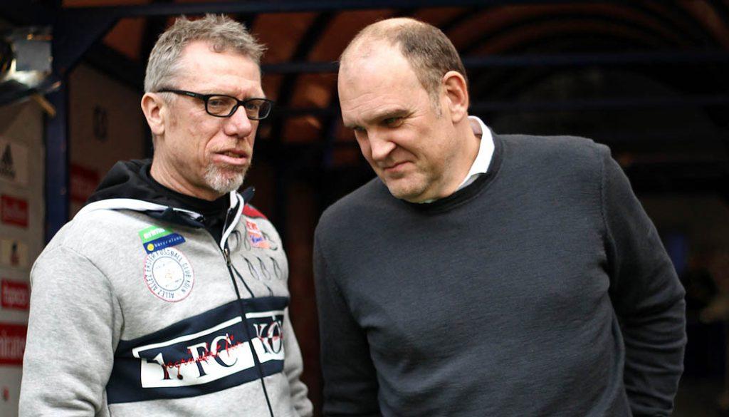 Peter Stöger und Jörg Schmadtke. (Foto: Cathrin Müller)