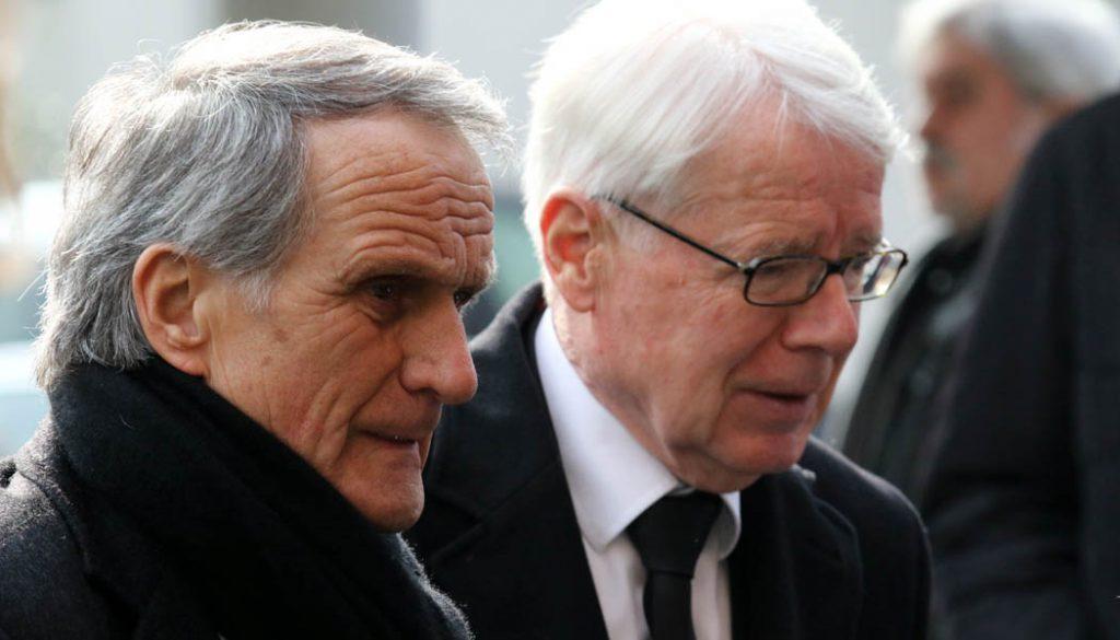 Wolfgang Overath und Reinhard Rauball beim Abschied von Hannes Löhr. (Foto: GBK)
