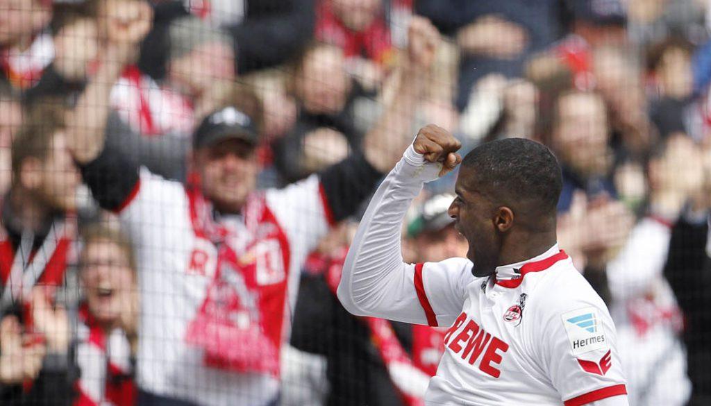 Der 1. FC Köln gewinnt dank der Tore von Anthony Modeste und Marcel Risse mit 4:1 gegen Darmstadt. (Foto: MV)