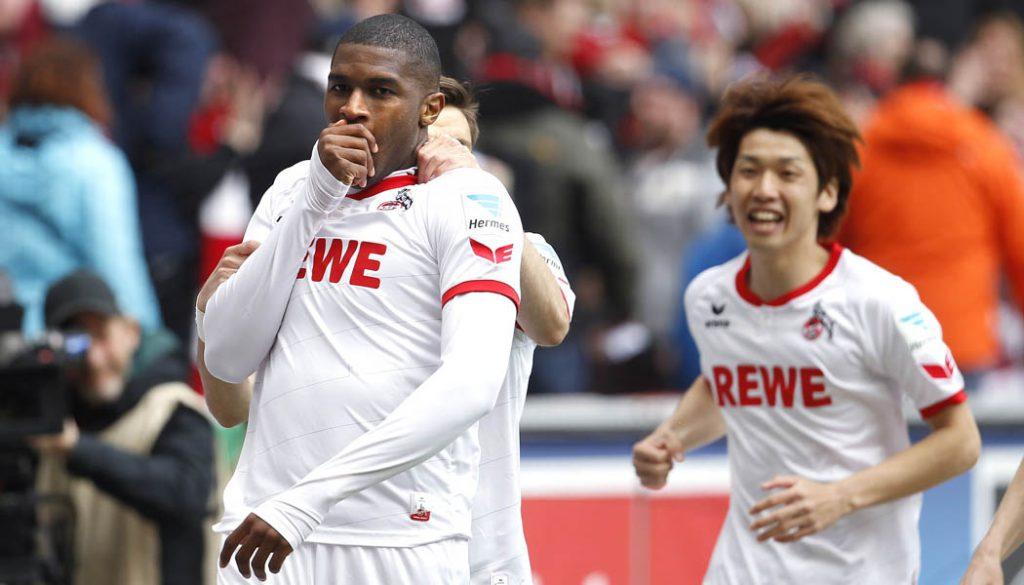 Anthony Modeste bejubelt das 2:1 gegen Darmstadt. (Foto: MV)