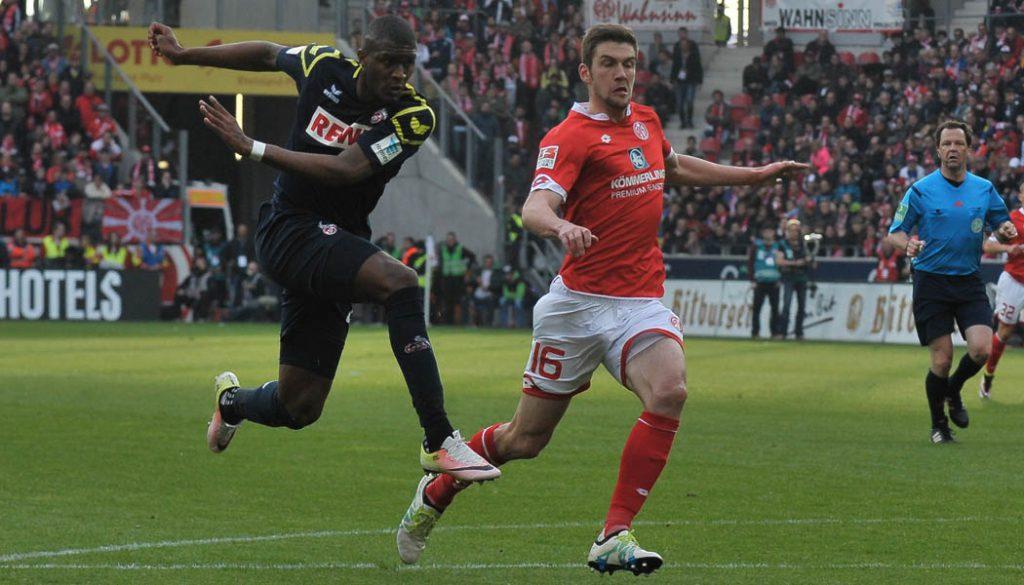 Anthony Modeste erzielt das 3:2 gegen Mainz. (Foto: JH)