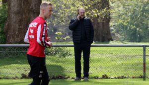 Kevin Vogt und Jörg Schmadtke. (Foto: GBK)