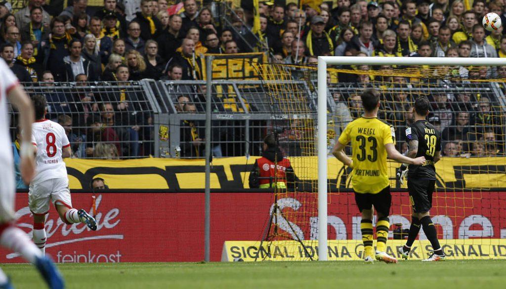 Milos Jojic trifft zum 2:1 in Dortmund. (Foto: MV)