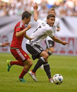 Jonas Hector im DFB-Team gegen Ungarn. (Foto: M.i.S.)