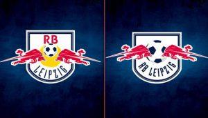 Das alte und das neue Logo von RB Leipzig.