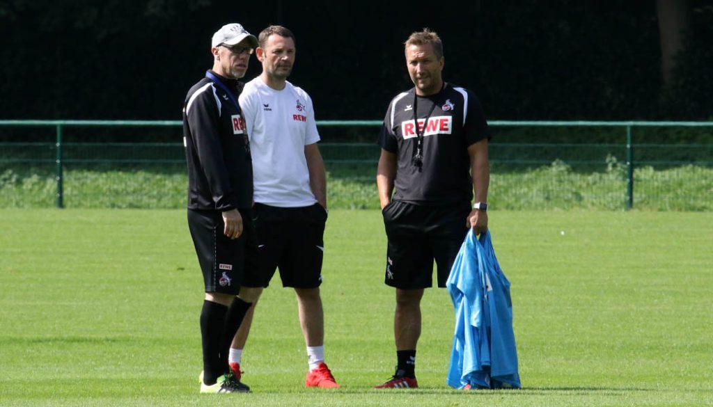 Peter Stöger mit Klaus Maierstein und Manfred Schmid. (Foto: GBK)