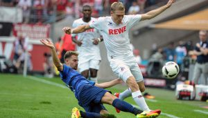 Artjoms Rudnevs in seinem ersten Bundesliga-Spiel für den 1. FC Köln. (Foto: JP)