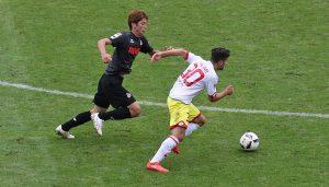 Yuya Osako im Testspiel gegen den 1. FSV Mainz 05. (Foto: GBK)