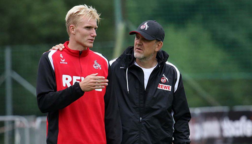 Haben sich auf eine Vertragsverlängerung geeinigt: Frederik Sörensen und Jörg Schmadtke. (Foto: GBK)