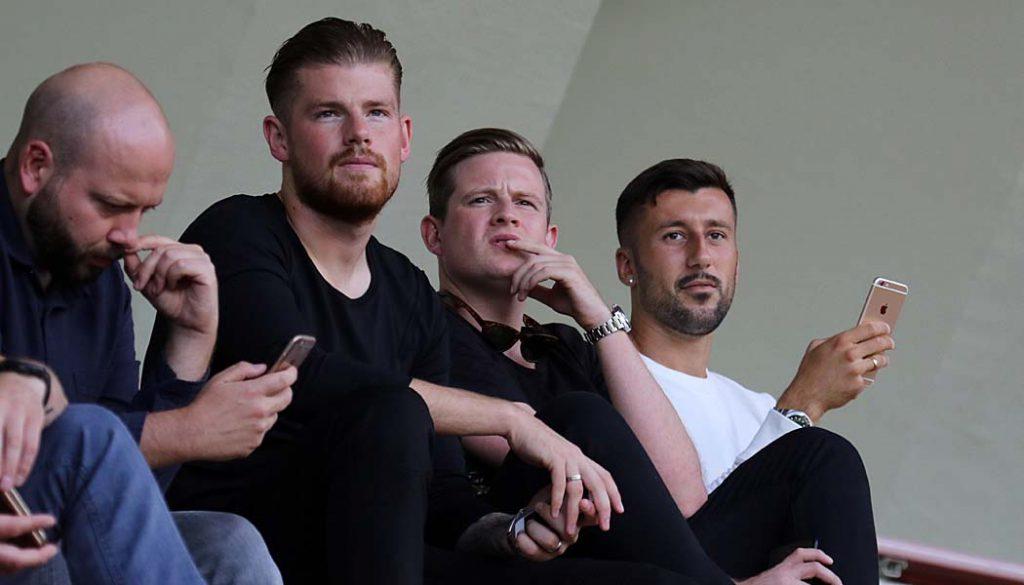 Timo Horn und Dominic Maroh beim Testspiel des Effzeh gegen Bochum. (Foto: GBK)