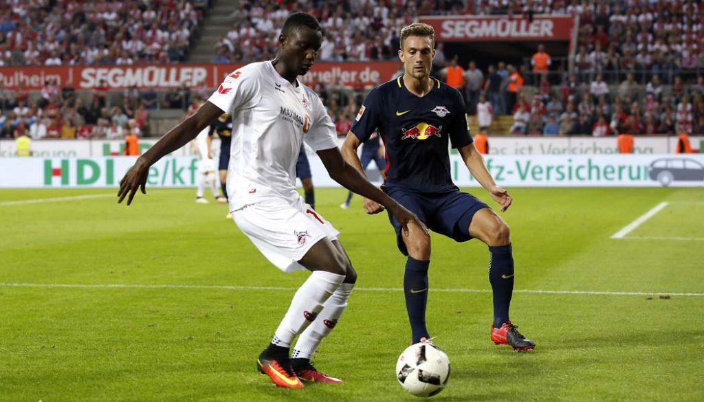 Sehrou Guirassy wurde kurz vor Schluss gegen Leipzig eingewechselt und feierte sein Debüt für den Effzeh. (Foto: MV)