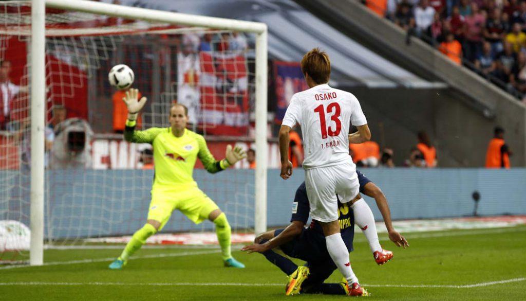 Yuya Osako trifft zum 1:1 gegen RB Leipzig. (Foto: MV)