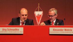 Die Geschäftsführer Jörg Schmadtke und Alex Wehrle. (Foto: GBK)