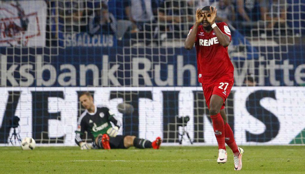 Anthony Modeste bejubelt das 2:1 im Spiel gegen den FC Schalke 04. (Foto: MV)