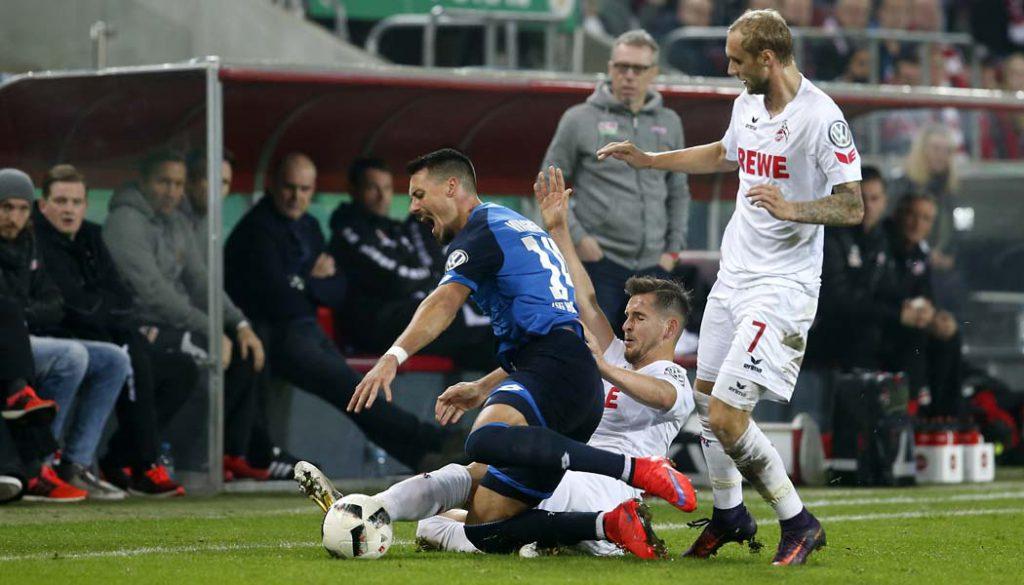 Pawel Olkowski macht eine starke Partie gegen Hoffenheim. (Foto: MV)