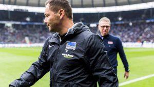 Pal Dardai und Peter Stöger vor dem Spiel. (Foto: SW)