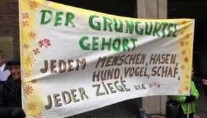 Grünen-Protest vor dem Rathaus. (Foto: GBK)
