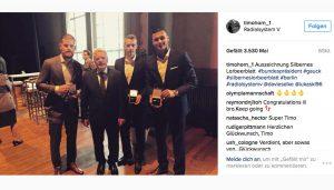 Timo Horn mit Bundespräsident Joachim Gauck. (Foto: Instagram)