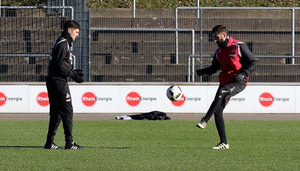 Dominic Maroh trainiert individuell. (Foto: GBK)