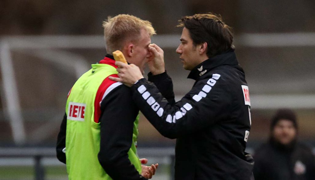 Holte sich im Training eine blutige Nase: Frederik Sörensen. (Foto: GBK)