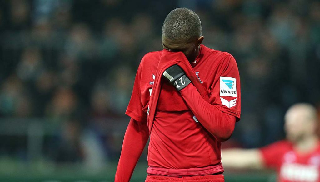 Anthony Modeste trifft in Bremen nicht und wartet seit vier Spielen auf ein Tor. (Foto: DeFodi / CM)