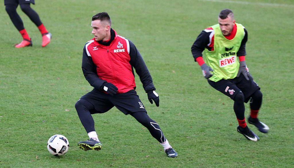 Christian Clemens  (li.) erstmals seit dreieinhalb Jahren wieder im FC-Dress. (Foto: GBK)