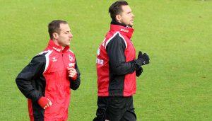 Matthias Lehmann und Pawel Olkowski absolvieren Lauftraining. (Foto: GBK)