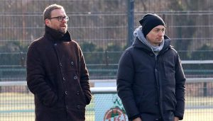 Jörg Jakobs und Daniel Meyer beim Spiel der U21 gegen die Fortuna. (Foto: GBK)